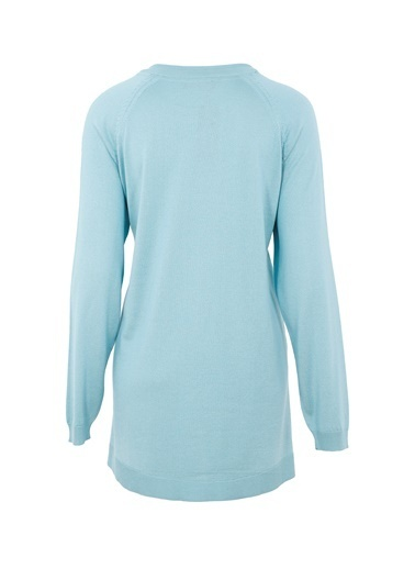 Butik Triko 2316 Basic Bluz Yeşil